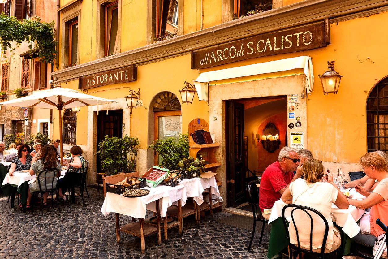Guía rápida Roma, Restaurante típico Trastevere