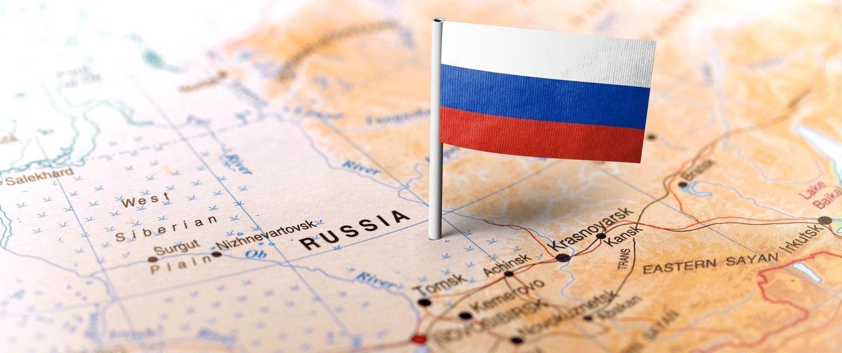 Situación de Rusia sobre el mapa