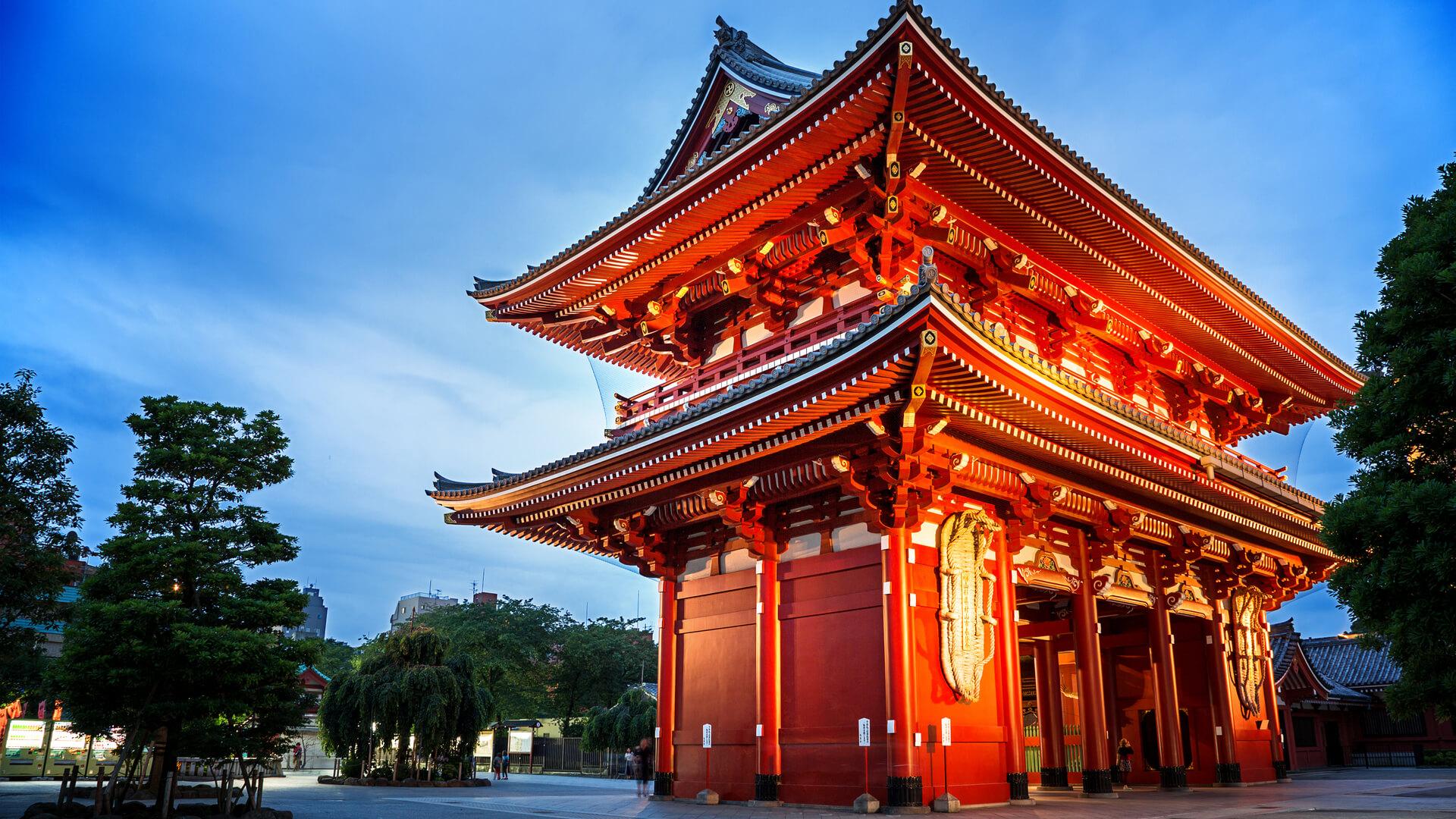 viajar a Japón, Templo Asakusa