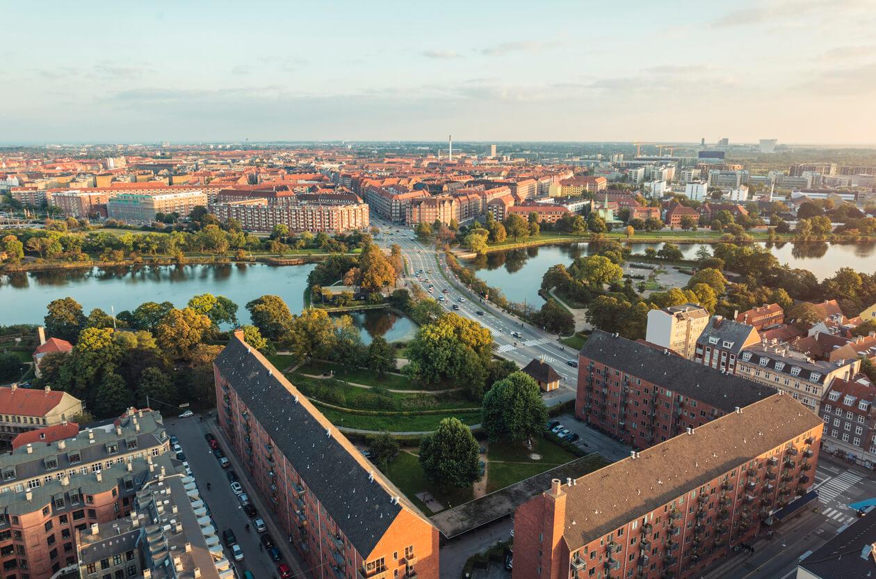 Viaje por los países bálticos, Vista aérea de Copenhague