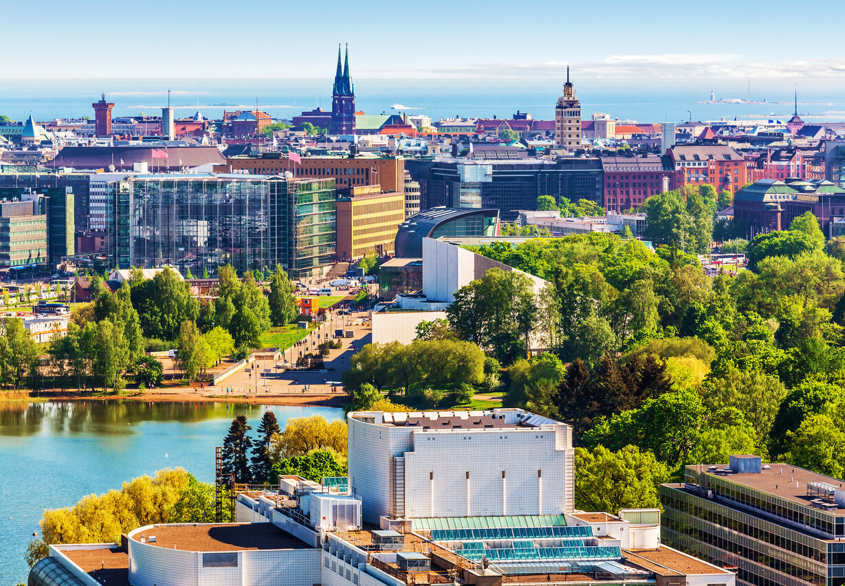 Viaje por los países bálticos, Vista aérea de Helsinki