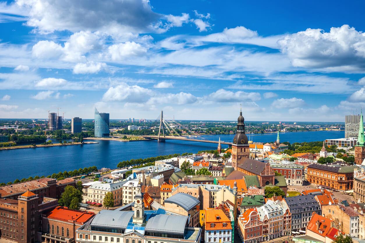 Viaje por los países bálticos, Vista aérea de Riga