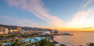 vacaciones en Tenerife, Vista aérea de Santa Cruz de Tenerife