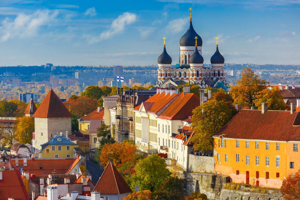 Viaje por los países bálticos, Vista aérea de Tallin