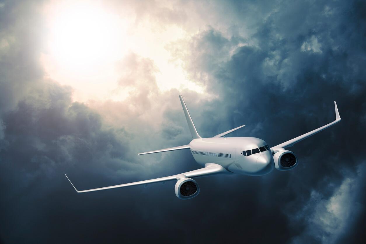 como perder el miedo a volar, Avión en una tormenta