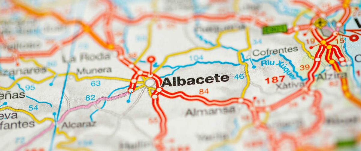 Situación de Albacete en el mapa