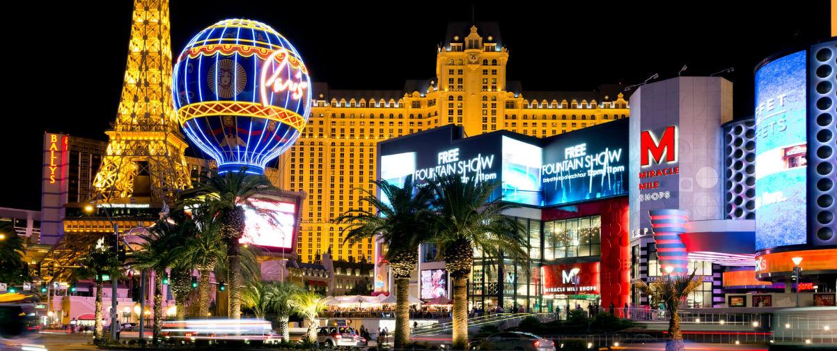 Crucero por Bahamas y Las Vegas, Las Vegas de noche
