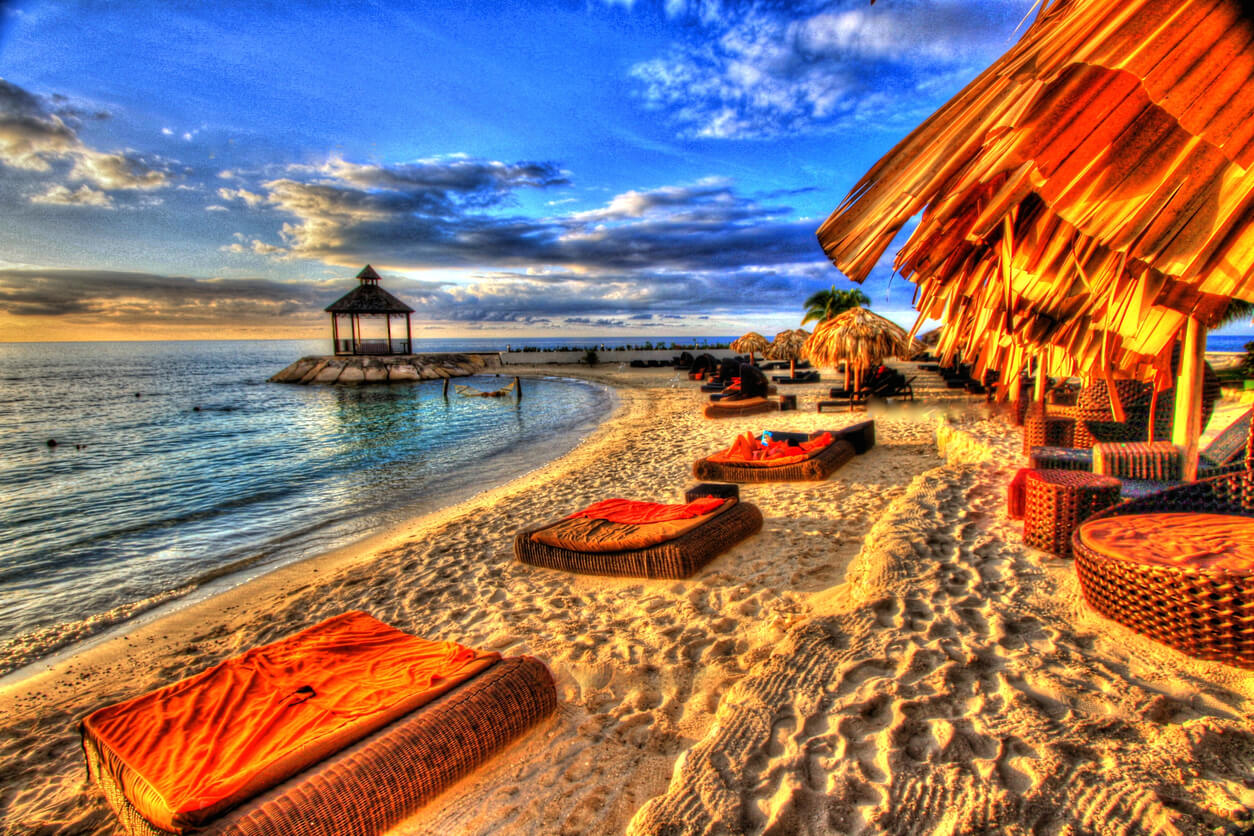 Jamaica, Playa en Jamaica
