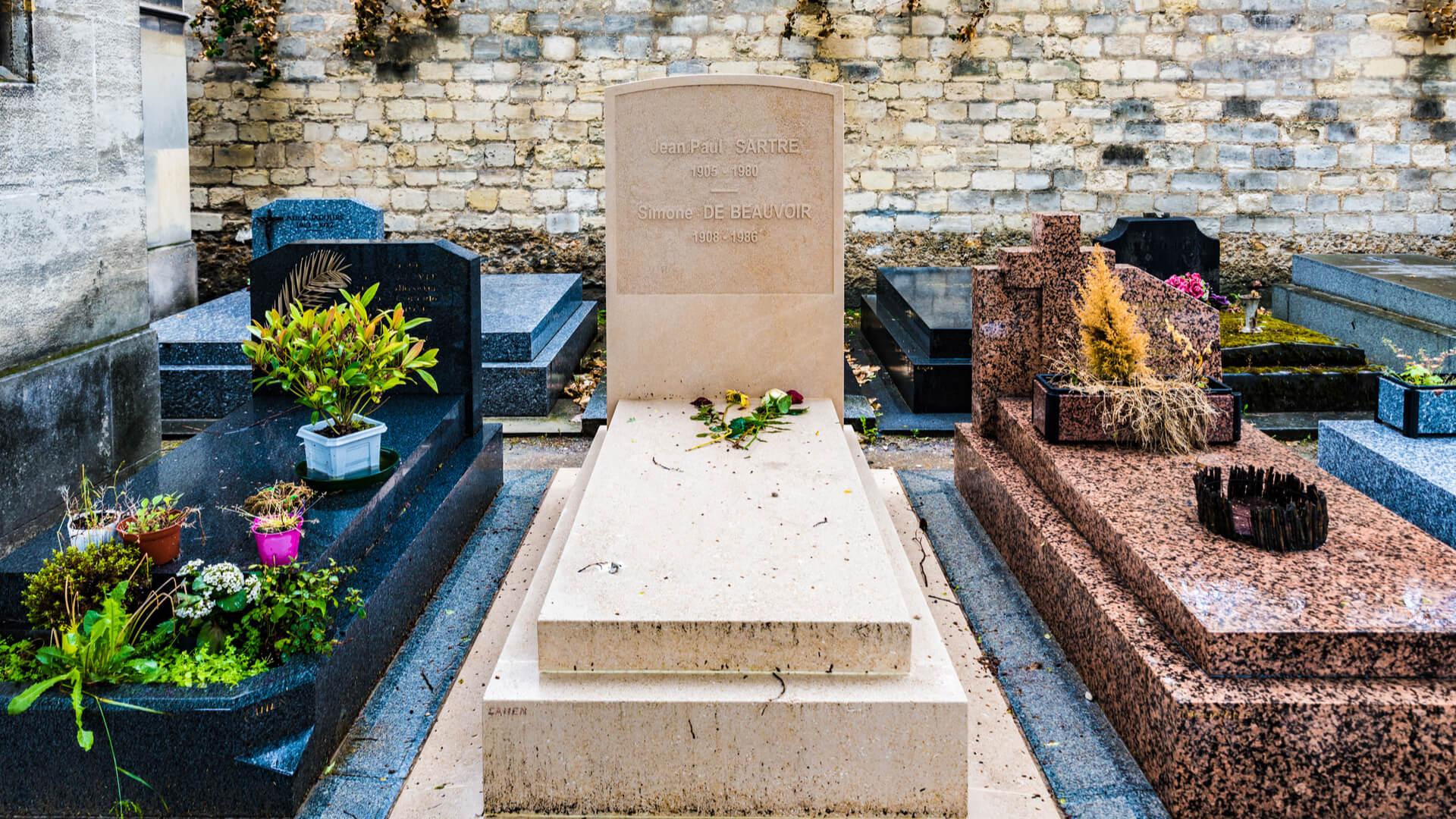 Tumbas de Sartre y Beauvoir, Cementerio de Montparnasse (París)