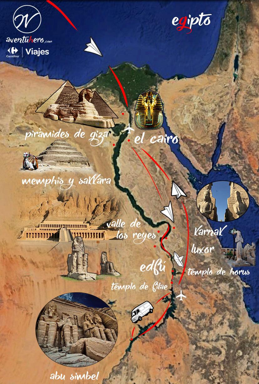 TIPS para viajar a EGIPTO - Mapa Egipto