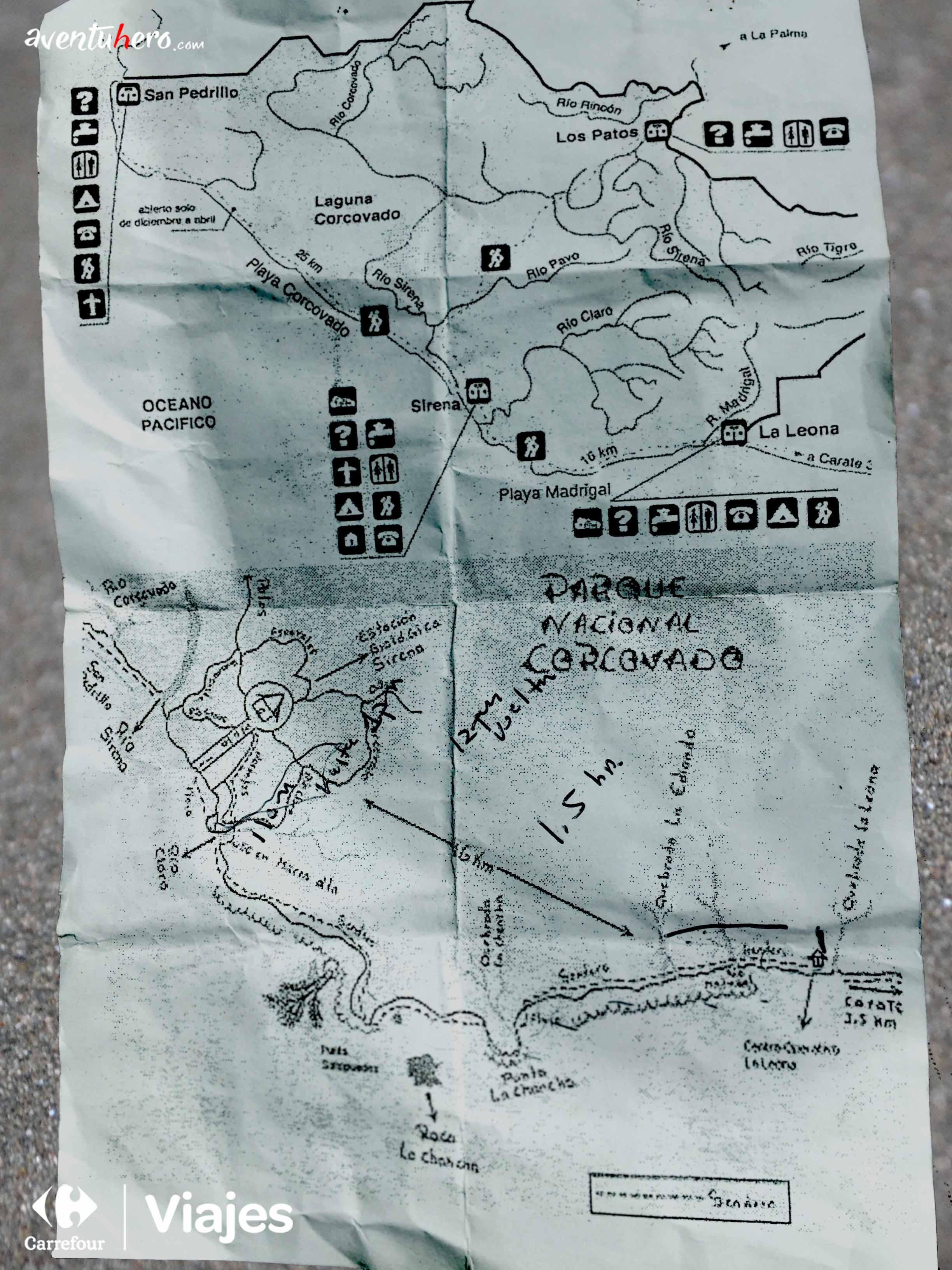 Mapa para Corcovado