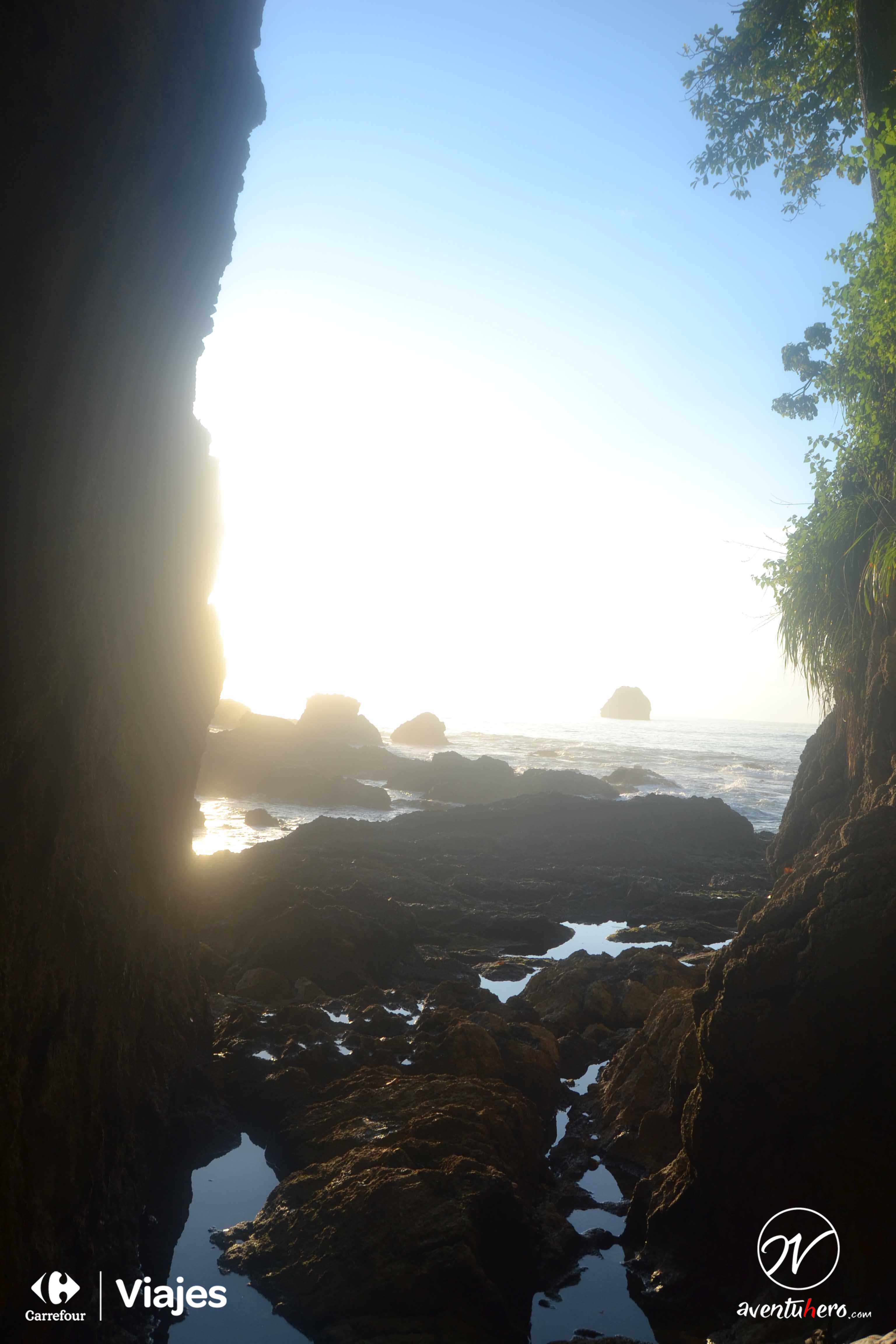 Saliendo de la gruta