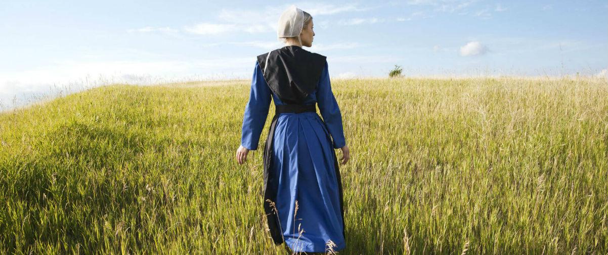 viaje a Filadelfia, Mujer Amish