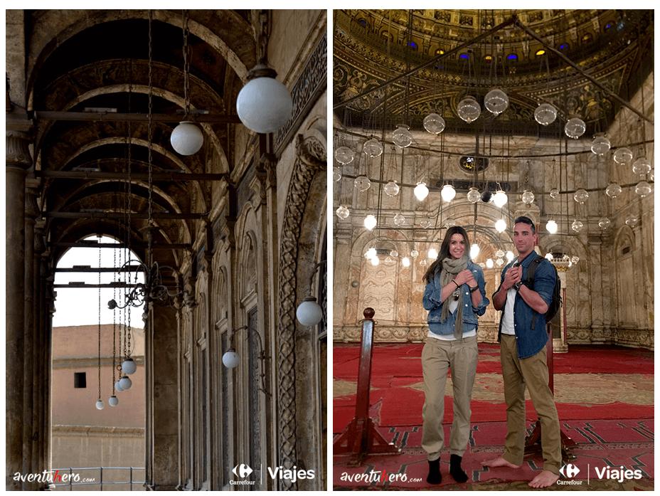 En el interior de la mezquita de Alabastro
