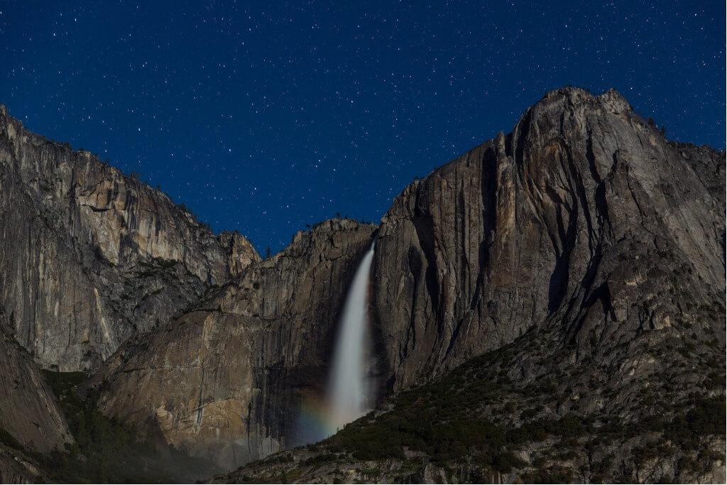 vuelos a EE UU, Cascada en el Parque Nacional Yosemite en California