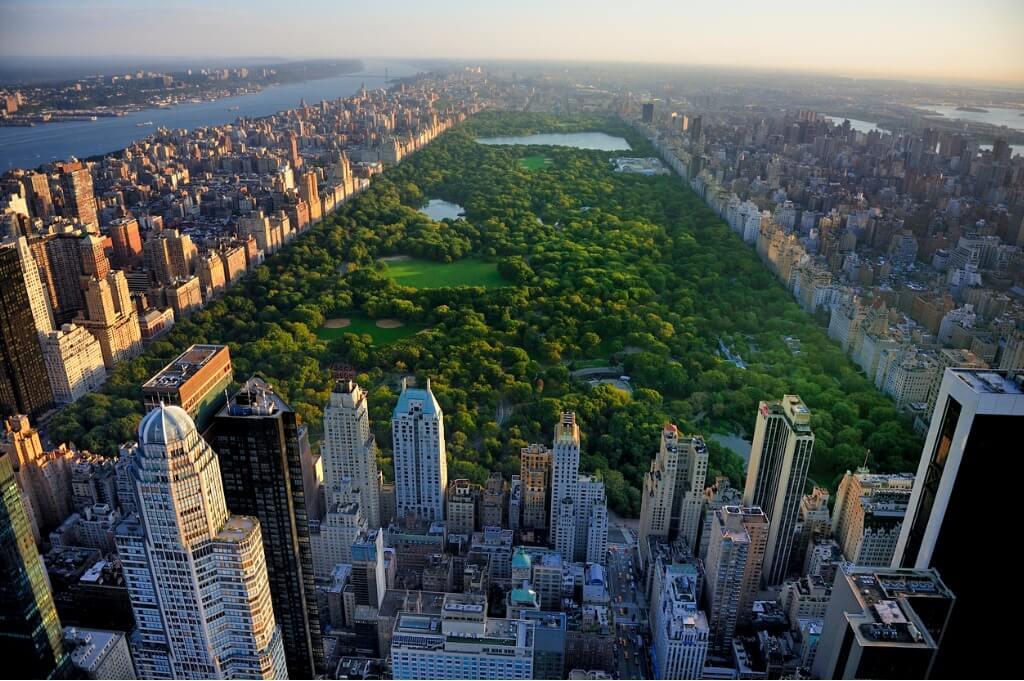 Viaje a Nueva York, Vista aérea de Central Park