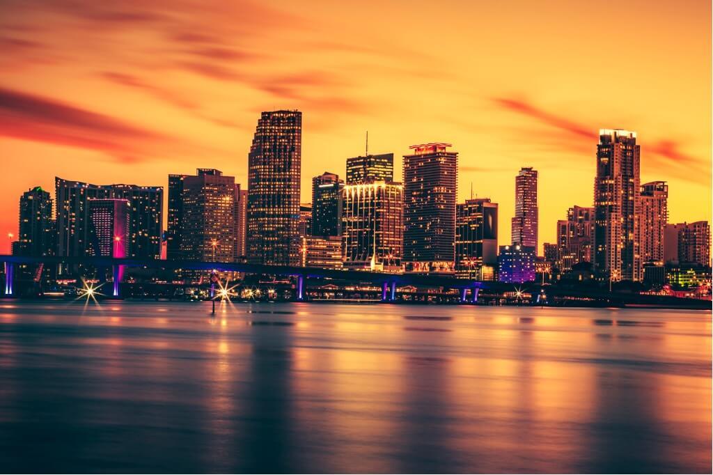 vuelos a Miami, Atardecer Miami