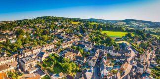 Viajar a Londres, Vista aérea de Cotswold en Inglaterra