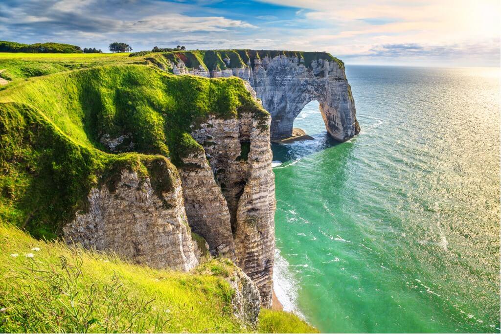 lugares mágicos, Etretat en Normandía
