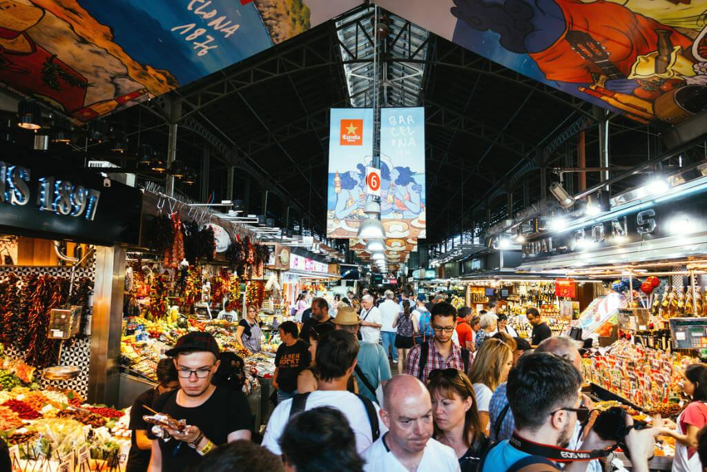 mercados del mundo, Mercado de la Boquería en Barcelona