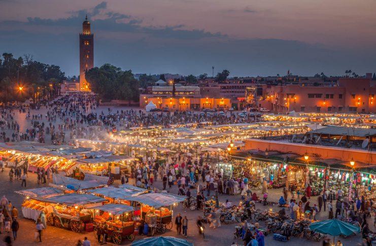 mercados por el mundo, Mercado Jamaa el Fna en Marruecos