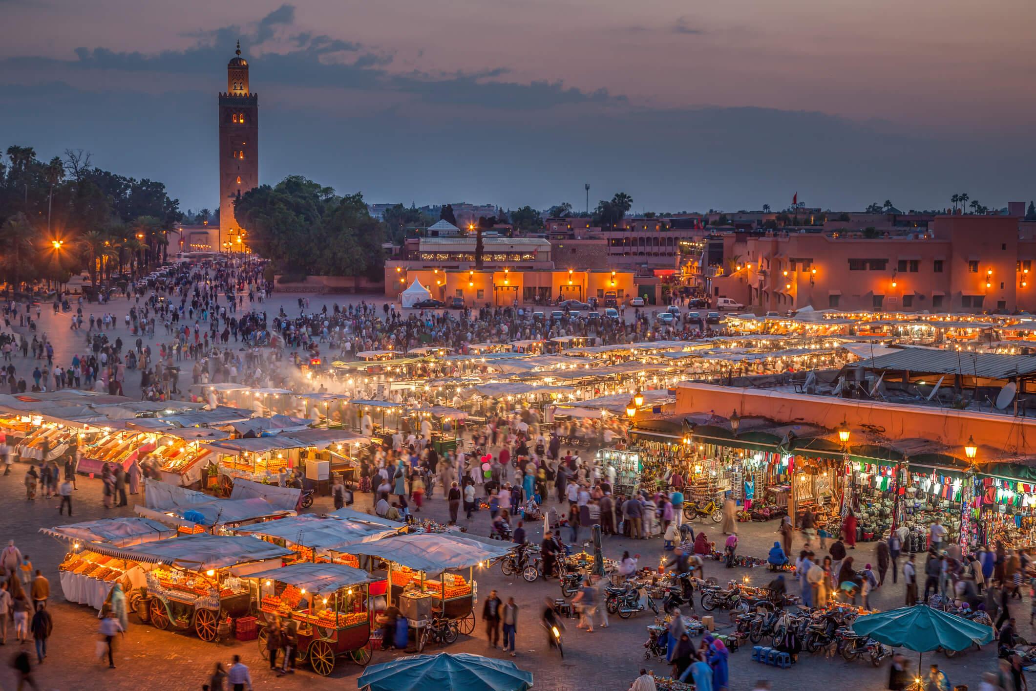 mercado jamaa el fna marruecos