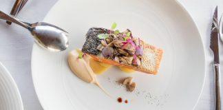 viaje a París, Plato gourmet de salmón