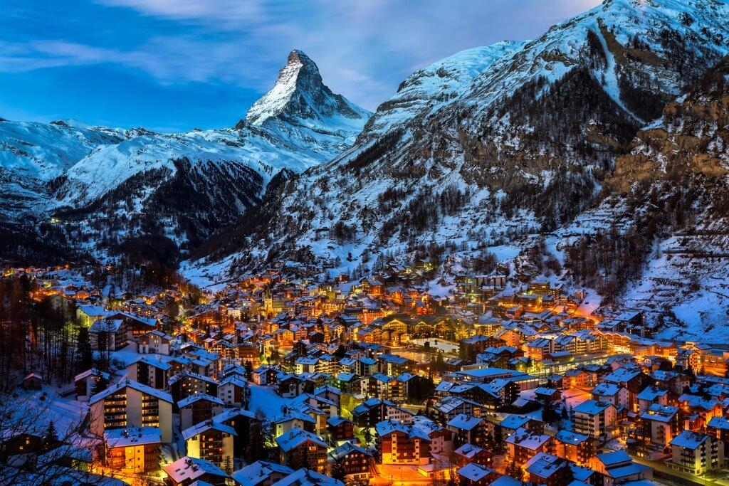 viajar a Suiza, Valle Zermatt