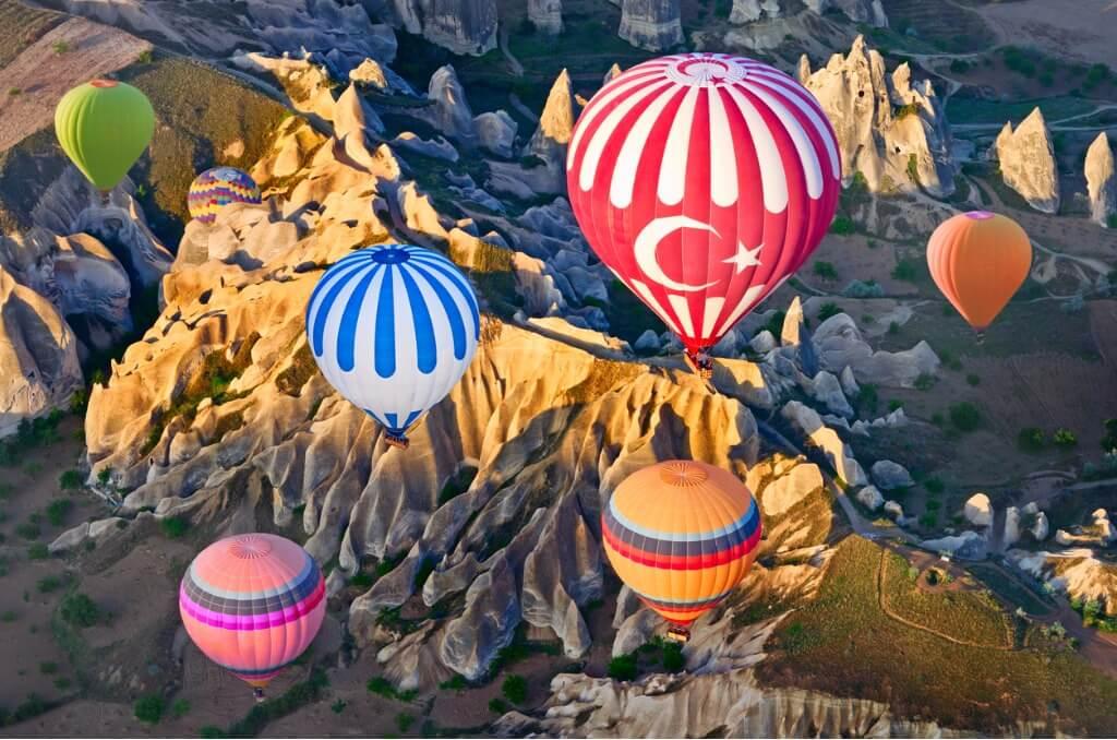 Visita a Capadocia, Vista desde globo aerostático de Capadocia
