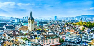 viajar a Suiza, Vista Zurich