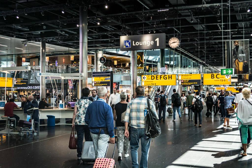 Grandes escalas, Aeropuerto Schiphol