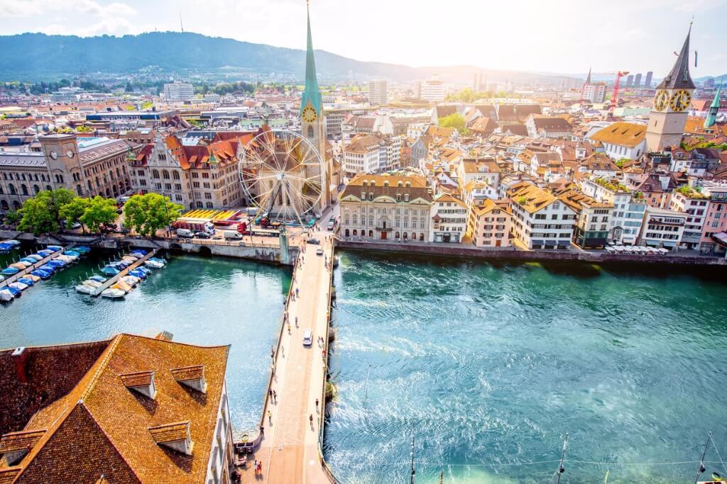 Grandes escalas, Lago Limmat en Zurich