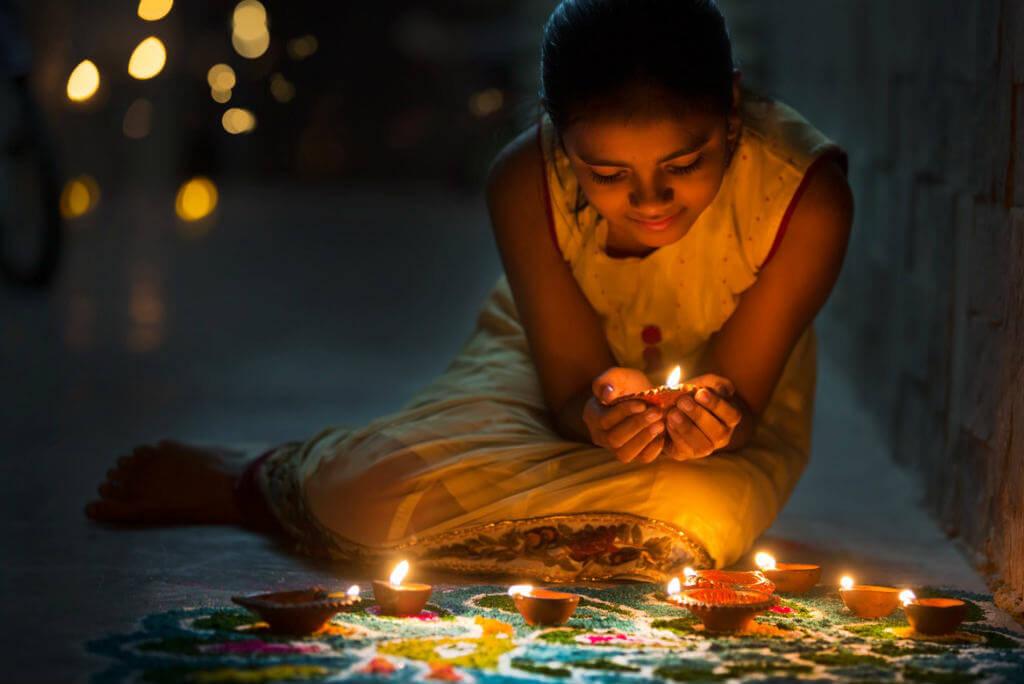 Festival de Diwali, Decoración Diwali