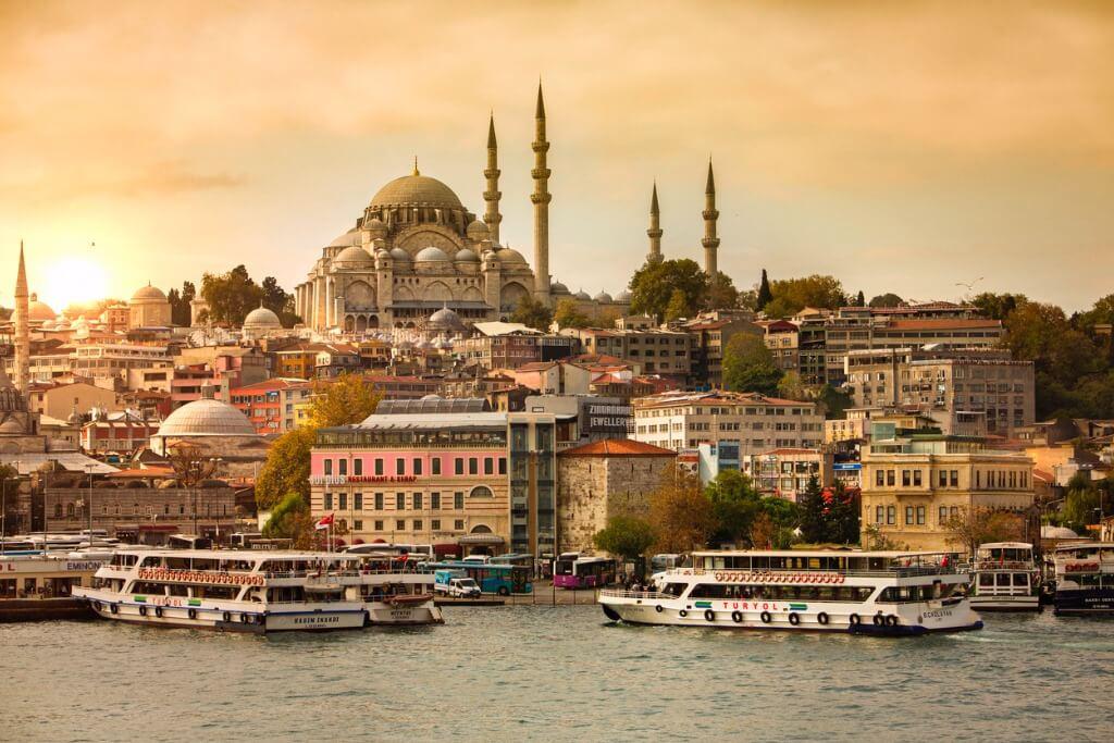 Destinos más populares, Atardecer en Estambul