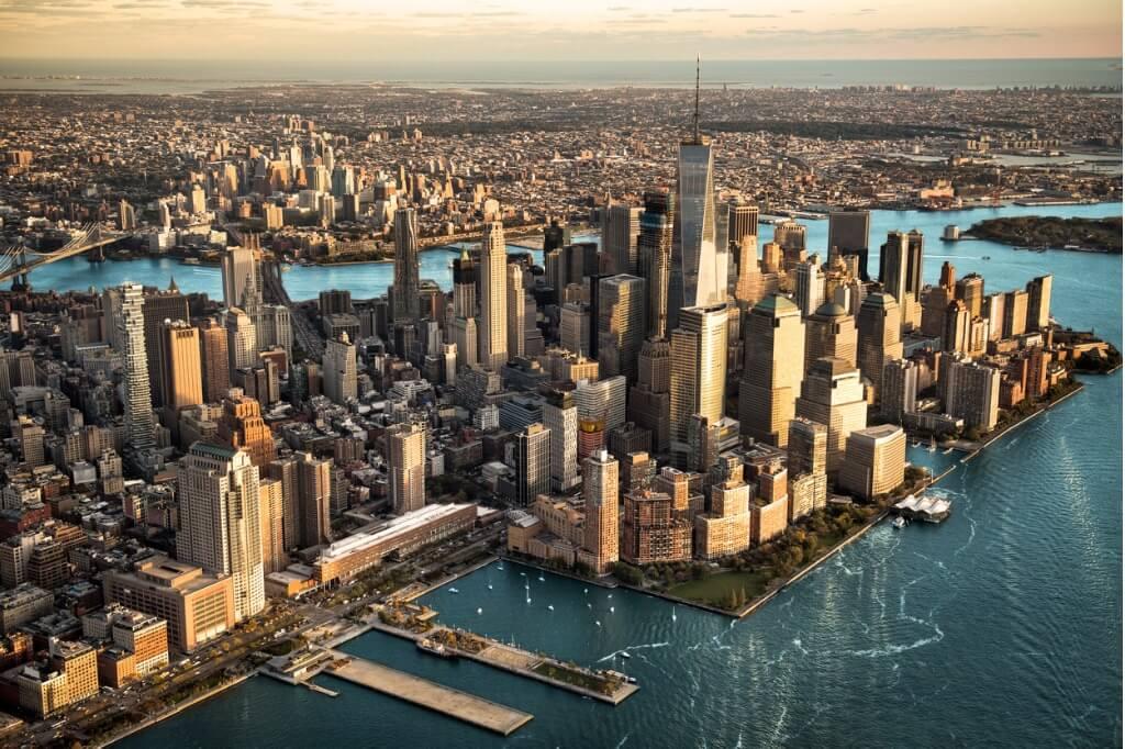 Destinos más populares, Vista aérea de Manhattan