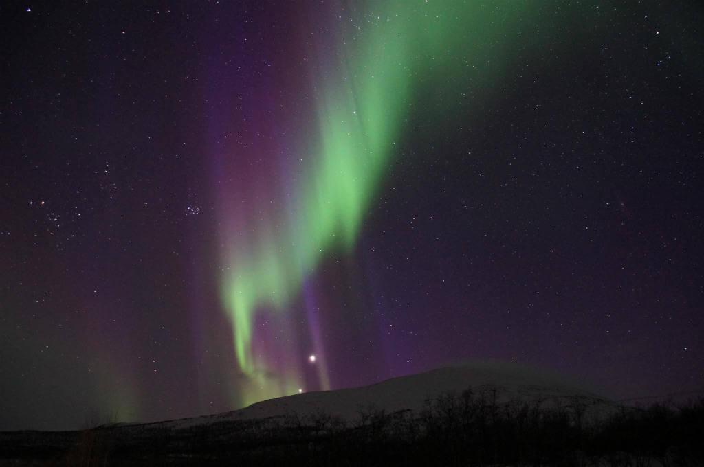Luna de Miel en Laponia, Aurora Boreal