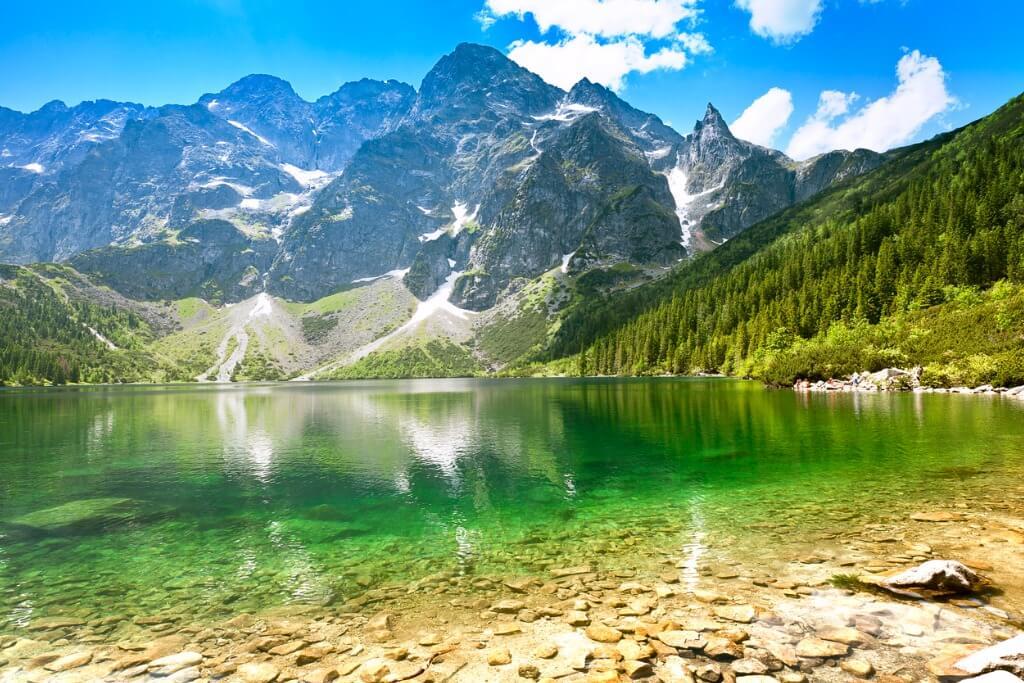 Vuelos a Polonia, Lago Tatra