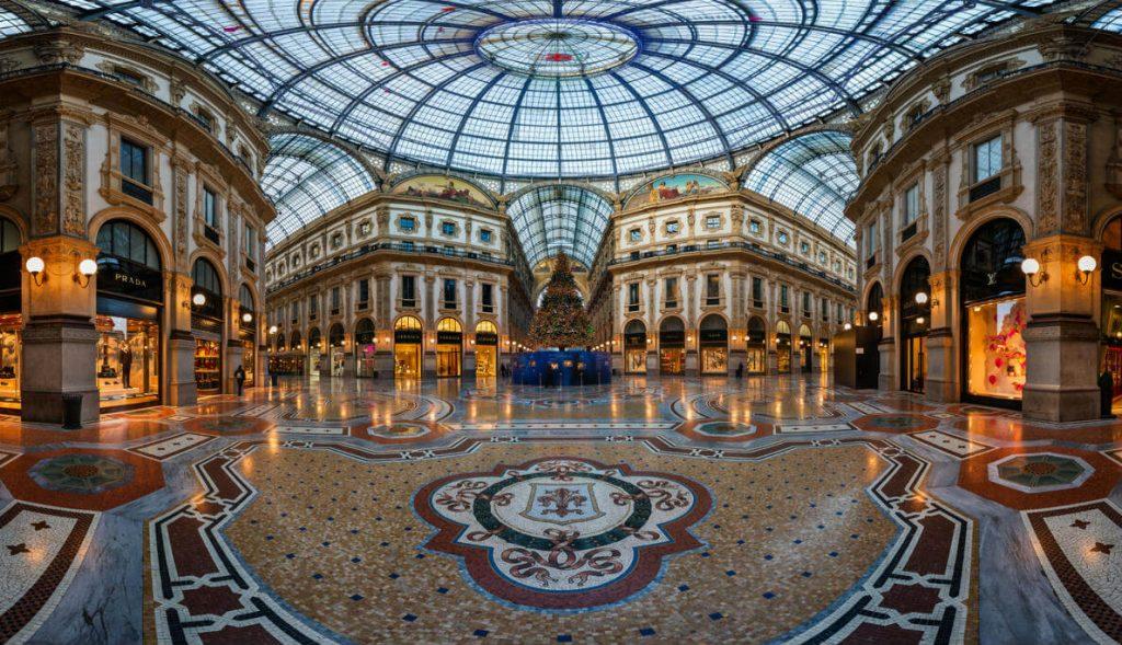 Puente de la Constitución, Galería Vittorio Emmanuele en Milán
