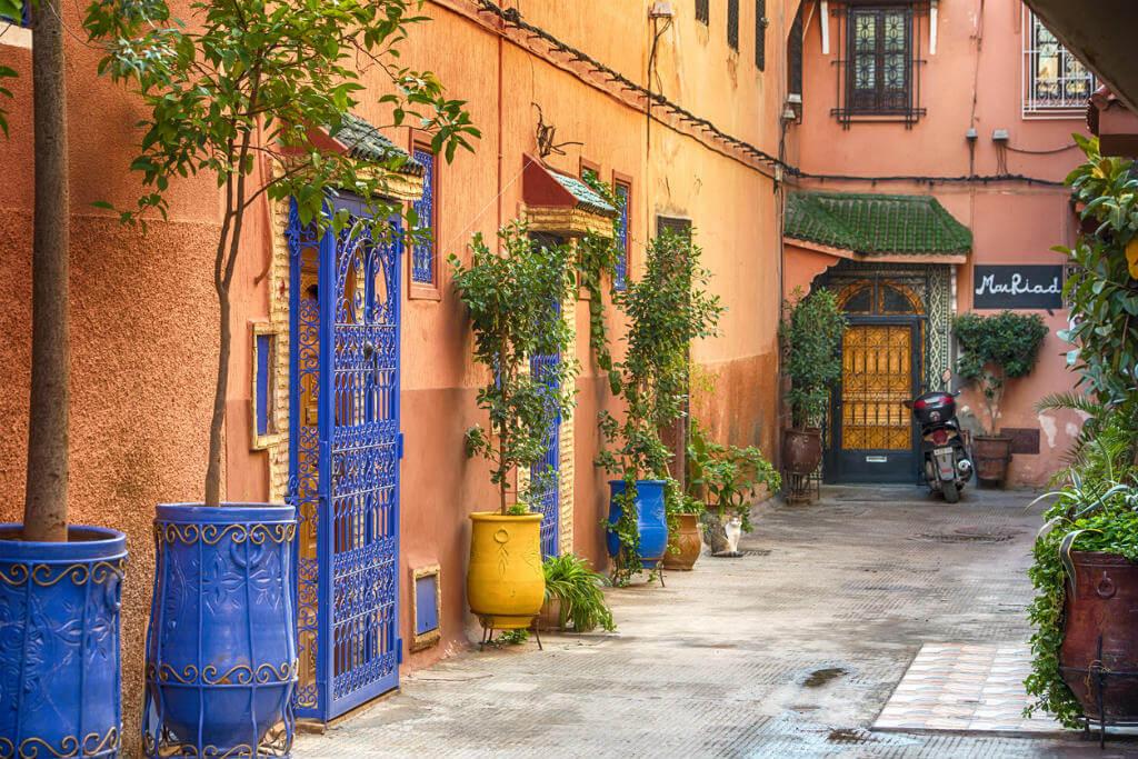 Viaje a Marrakech, Calle típica Medina