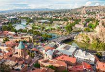 Tiflis, Panorámica aérea Tiflis