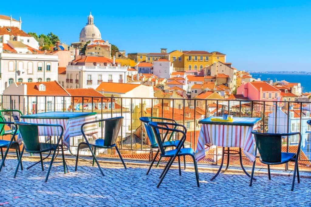 Vuelos a Portugal, Vistas desde terraza de Alfama