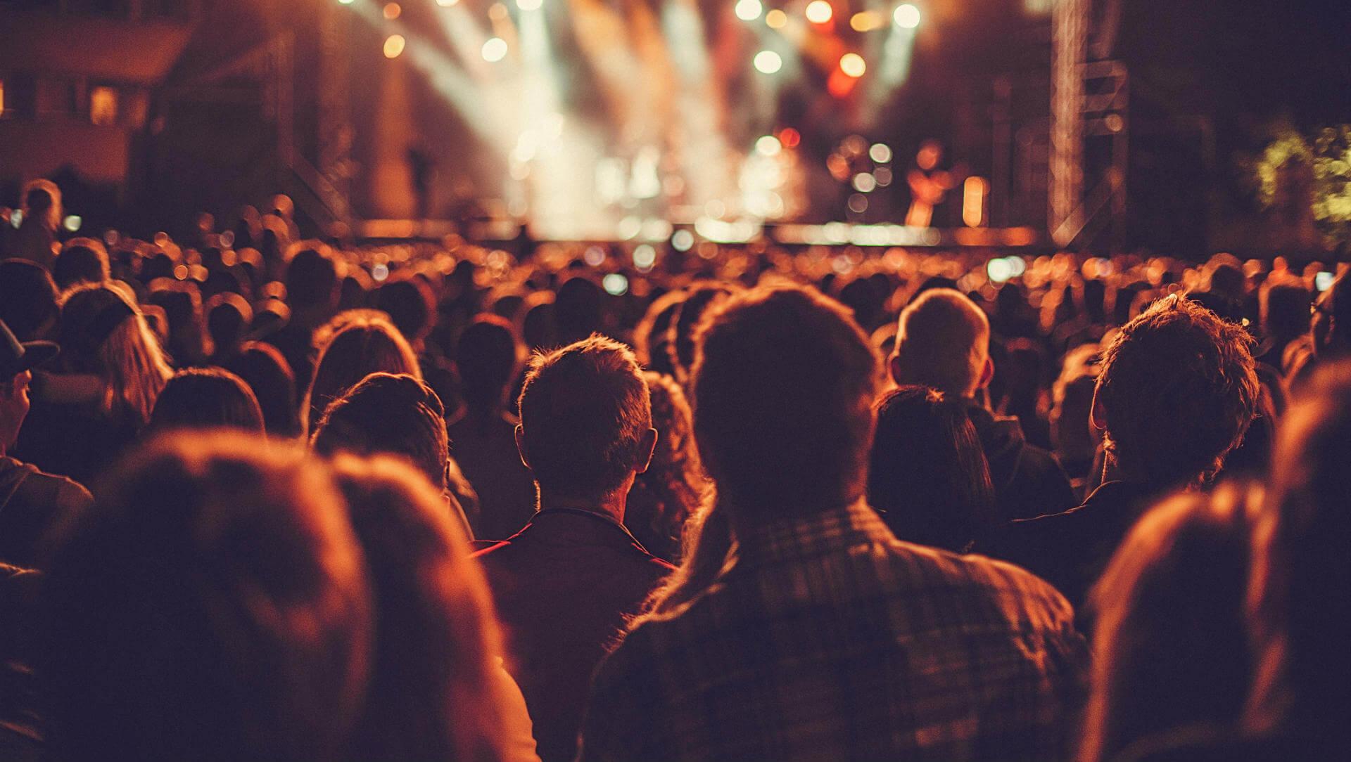 Festivales multitud concierto