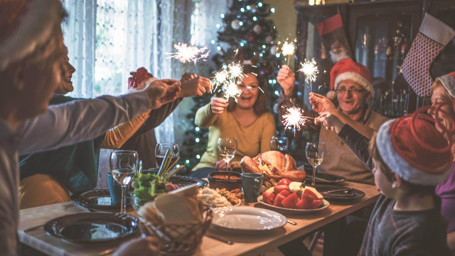 cena nochebuena familia navidad