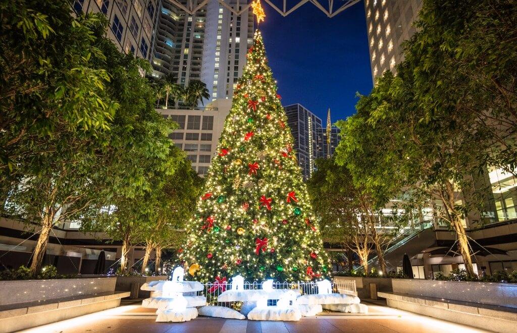 Famosos en la Navidad, Centro de Miami en Navidad