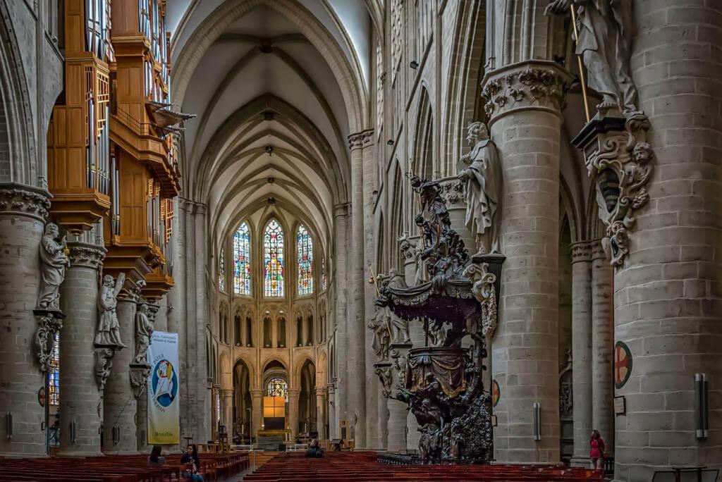 Guía escapada a Bruselas, Catedral de Bruselas