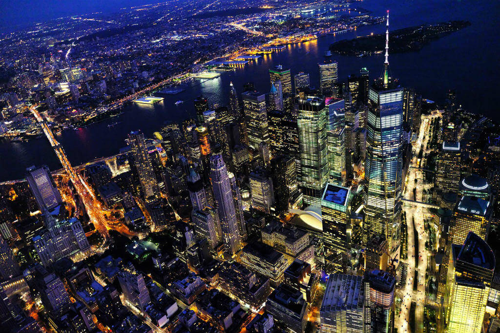 viajar a Madrid, Vista aérea de Nueva York