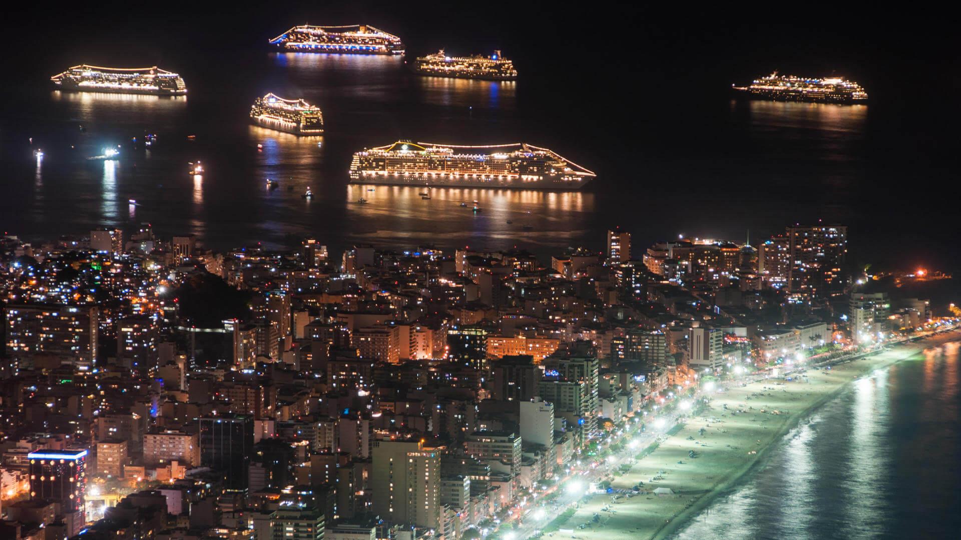 nochevieja en un crucero fin ano rio janeiro