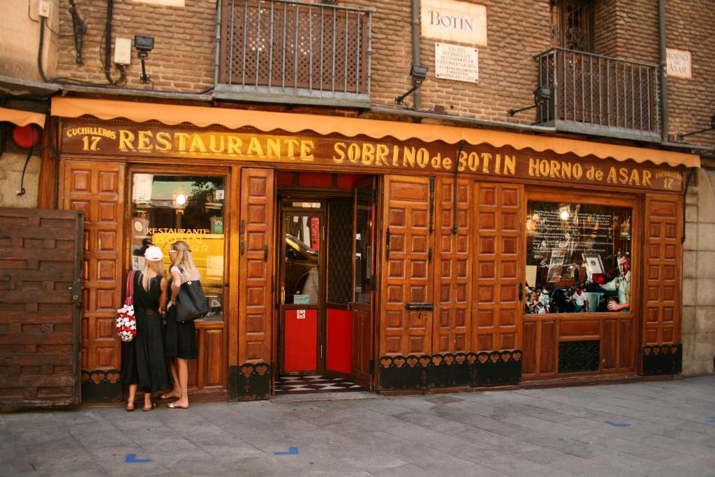 Viajar a Madrid, Restaurante Sobrino de Botín