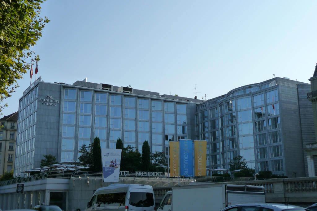 Viajar a Madrid, Hotel President Wilson en Ginebra
