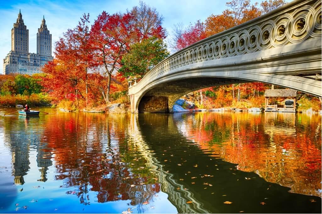 Vuelos a Estados Unidos, Central Park en Otoño